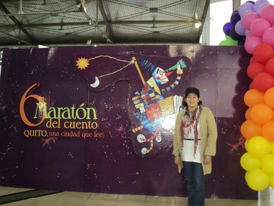 En el 6to Maratón de Cuentos en Ecuador.
